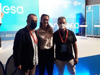 CEO de Innova-tsn junto a Presidente y Representante del Club Leganés de Baloncesto